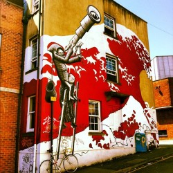 Another great find from a stumble around Bristol city. #streetart #graffiti #bristol #art #street #greatfind #daytimestumbling  (Taken with Instagram)