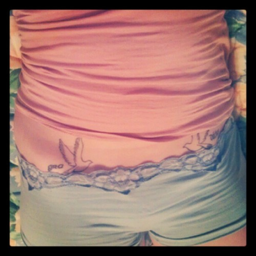 #hipbones #pastels and #floral patterns (Taken with Instagram)