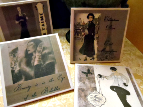 Vintage Haute Couture Fashion Coasters from lorrained48 via (copious)