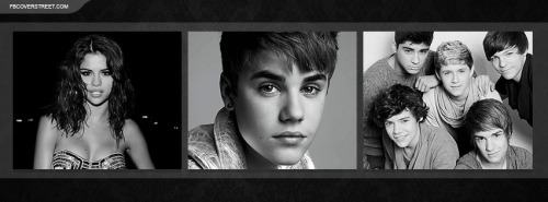 Selena Gomez Justin Bieber One Direction Facebook Cover