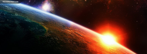 Space Other Planet Sunrise Facebook Cover