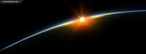 Space Earth Sunrise Facebook Cover