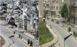 leaveobashar:  Homs, Syria … Before & After Thanks @BintAlRifai