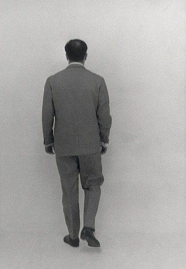 pikeys:  Yves Klein in the Void Room (Raum der Leere), Museum Haus Lange, Krefeld, January 1961.