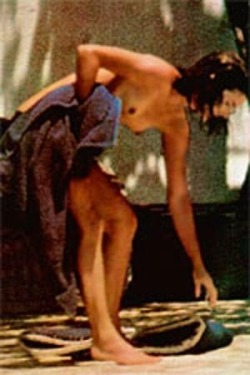 "naked Jacqueline Kennedy by Ron Galella / 1970-s Ron is widely known for his obsessive treatment of Jacqueline Kennedy Onassis and the subsequent legal battles associated with it. The New York Post called this ""the most co-dependent celeb-pap[arazzi] relationship ever."""