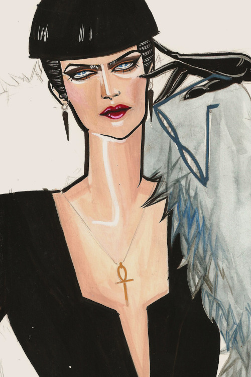 More practice for my Masters! Apparently this has a bit of Patrick Nagel to it