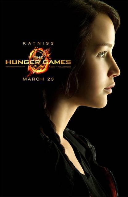 Hunger Games - Katniss (via Poster 'The Hunger Games Teaser Character Poster USA 1' @ ScreenWEEK)