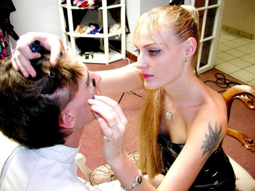 justsomewishfulthinking:sweetnathalietv:At first: tell him it would be just for laughsMakeup, earrings, painting nails, shaving. Complete submission to your Mistress if (when) she commands.