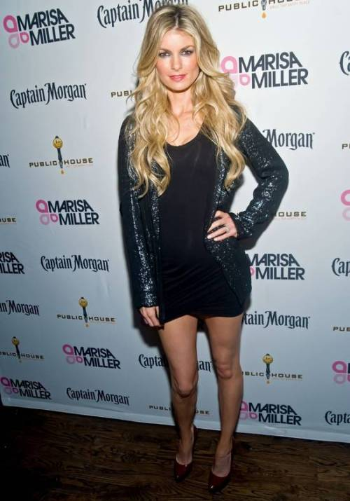 Marisa Miller leggy Captain Morgan 376th Birthday Party Chicago via hotcelebshome.com
