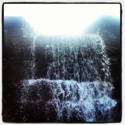 Falling Water in #Sognsvann #Oslomarka #Oslo #Norge #æøå  (Taken with Instagram)