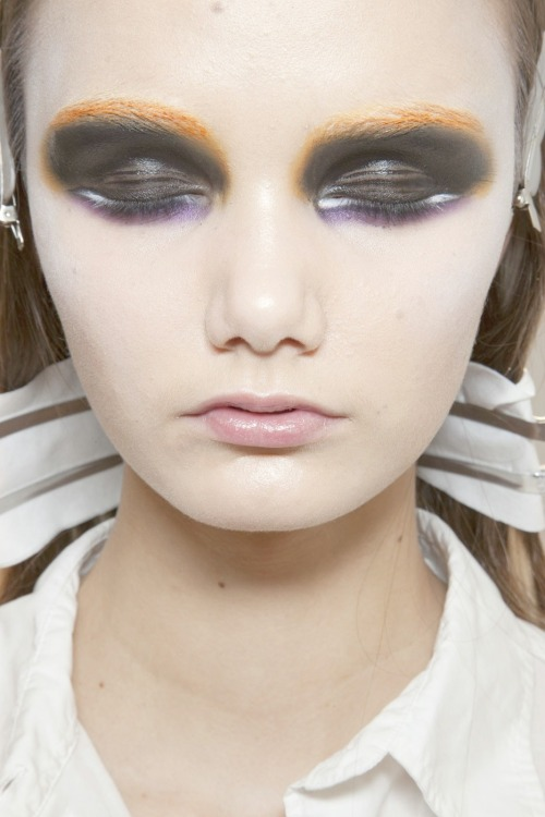 Backstage at Prada fall/winter 2012