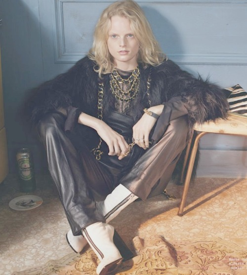 Hanne Gaby Odiele in Vogue Italia August 2012 'All Dressed Up With Nowhere To Go' by Steven Meisel