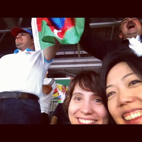 Having fun with our pals from Azerbaijan @misstayti  (Taken with Instagram)
