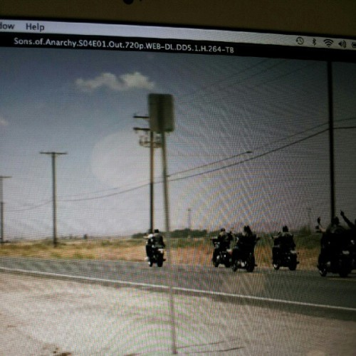 #watching #sonsofanarchy #motorcycleclub #bikes #charming (Taken with Instagram)