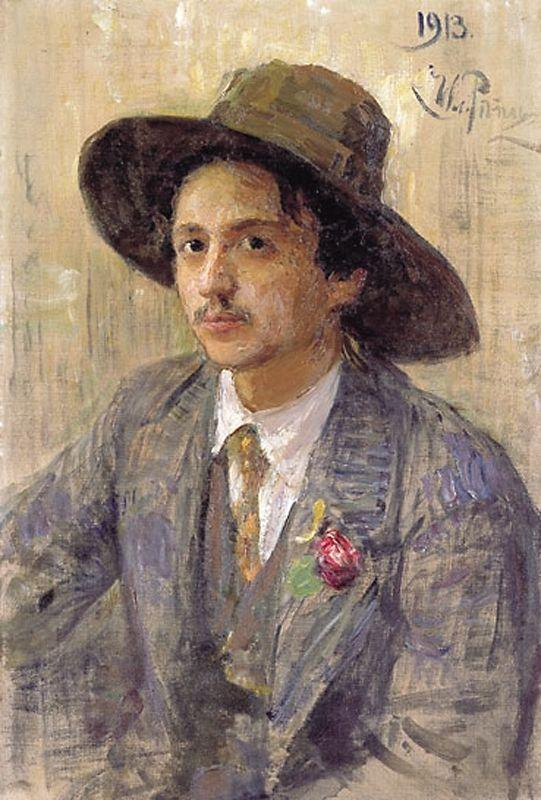 blastedheath:  Ilya Repin (Russian, 1844-1930), Portrait of Isaak Israilevich Brodsky, 1913. Oil on canvas. Private collection.