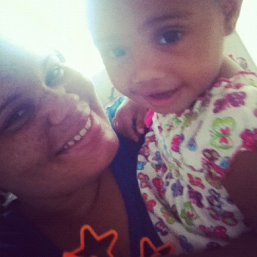 RiNy & I #chillday #godbaby #cuties  (Taken with Instagram)