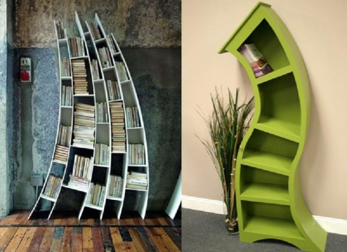 buddingbibliophiles:  These bookshelves are trendsetters! Either one will be a conversation piece for sure! When people walk into your home, they will compliment you over and over again! You'll be glad you bought it for sure! It just stands out from the rest in my opinion!