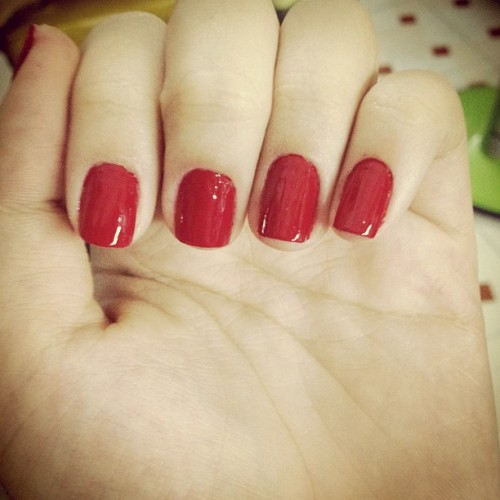 With red Revlon ^^ (Taken with Instagram)