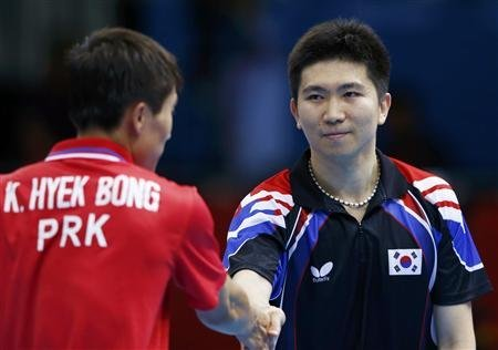 North Korea vs South Korea Olympic Table Tennis Match - NBC USA failed to show this very important moment.  From reddit user Mauceri  This was an absolutely wonderful match, where South Korea won in a the final round to take the series. Just as the two players approached each other to shake hands, my broadcast cut to a random person in the audience and then to both players walking towards their respective coaches. I hate to think this was done on purpose, but why would you NOT want to show such a rare and improbable moment? ***To clarify, NBC showed the entire MATCH via their regular broadcast on cable television, but did not show their hand shake in what seems to be a rather calculated way.