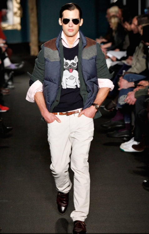 Classic style with a quirky twist.  Michael Bastian, Fall 2011.
