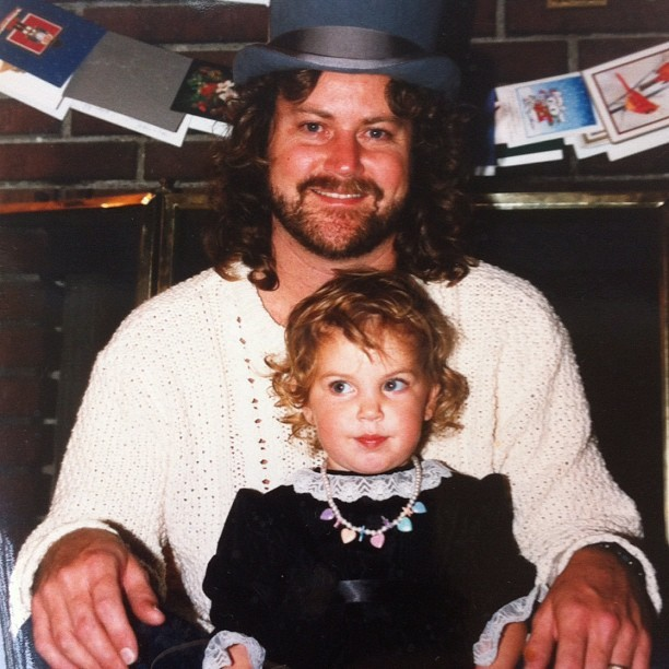 My dad and me being fancy in 1988 (Taken with Instagram)
