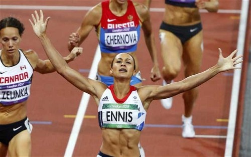 Jessica Ennis wins gold for Great Britain in the women's heptathlon!! What a day for British sport. Fantastic achievement and inspiring moment!