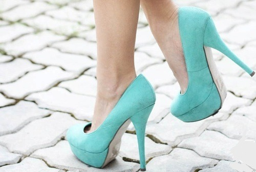 blue shoes!