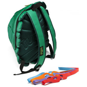 sogeekchic:  TMNT shell backpack with masks ($44.99) available from ThinkGeek  WANT!
