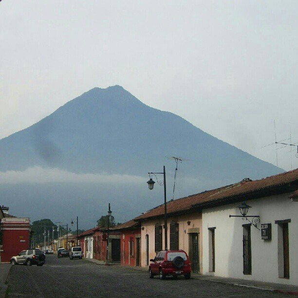This is something I miss seeing in the mornings. Volcan de Agua, Antigua, Guatemala (Tomada con Instagram)