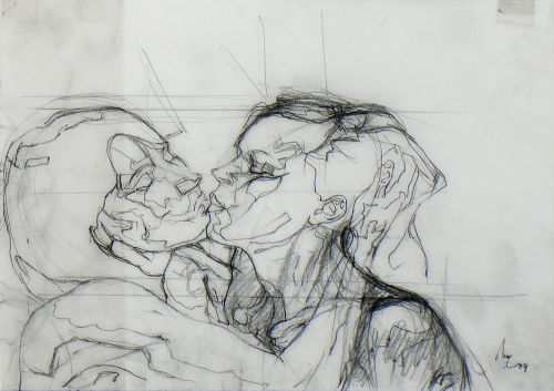 Lovers, drawn in 2004 by Bertrand Neuman. You will also like: two skeletons.