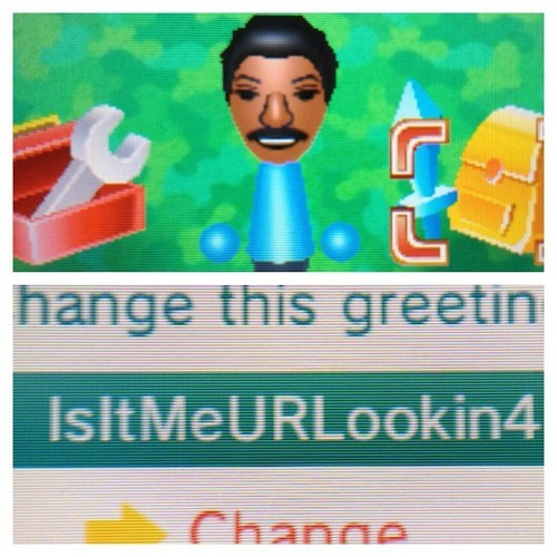 "None of the people I StreetPass Miis with are ever as fun as this. Everyone who lives in my city needs to abandon their serious 3DS avatars, and adopt Miis modeled after singers from the 1980s for my amusement.  ""Hello, is it me you're looking for?'Cause I wonder where you are,and I wonder what you do.Are you somewhere feeling lonelyor is someone loving you?""  Eagerly awaiting Phil Collins showing up on my 3DS, greeting me with ""TakeALookAtMeNow"". Buy: Nintendo 3DS XL Red or Blue,  Nintendo 3DS See also: More Nintendo 3DS XL videos and photos [Via whisperhug]"