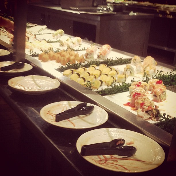 Let the feasting begin! #sushi #buffet #food (Taken with Instagram)