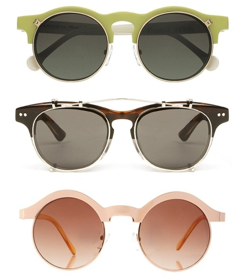 Allll of the sunnies. paywhatyouwant:  Carven Flip-Ups, Illesteva and Asos Keyhole Sunglasses