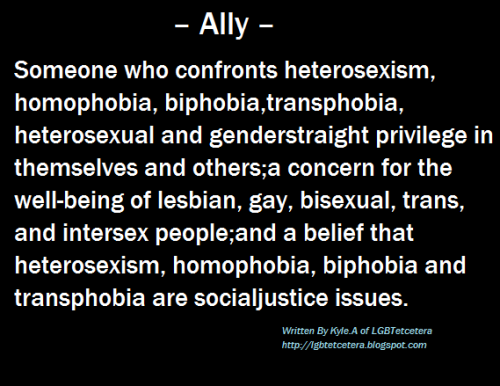 LGBTQ* Allies  (Source)