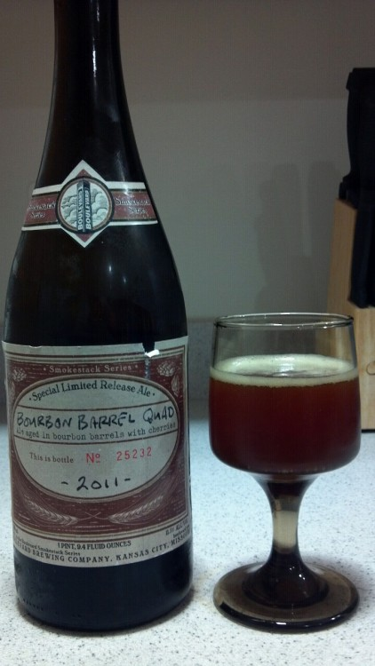 2011 Boulevard Bourbon Barrel Quad