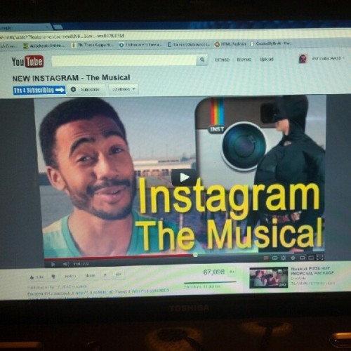 #Instagram musical on #Youtube on Instagram #Instagramception (Taken with Instagram)