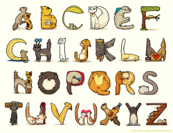 yasminacreates:  cat alphabet by *pepaaminto