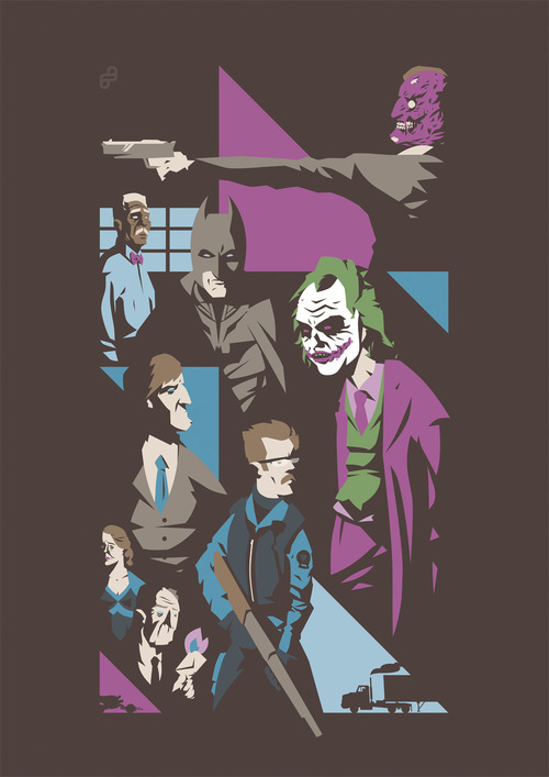 The Dark Knight alternative movie poster designed by Florey