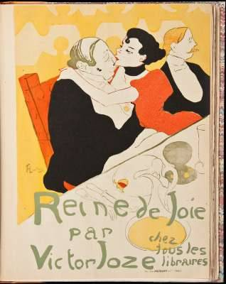 "Henri de Toulouse-Lautrec 1864-1901. Dessins, Estampes, Affiches Maurice Joyant. H. Floury, Paris, 1927.  Illustrated throughout with color plates, plates printed green, red or black, black and white illustrations and one original dry-point etching ""Portrait de Monsieur X"". 26.2x19.8 cm. (10¼x7¾""), modern half morocco & marbled boards, spine tooled in gilt, morocco labels; original front wrapper bound in.  Beautifully illustrated catalogue of the works of Henri Toulouse-Lautrec, including many color reproductions of original lithographs on fine paper; and the original dry-point."
