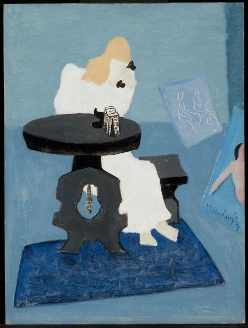 paperimages:  Milton Avery, Morning Call, 1945. MFA Boston.
