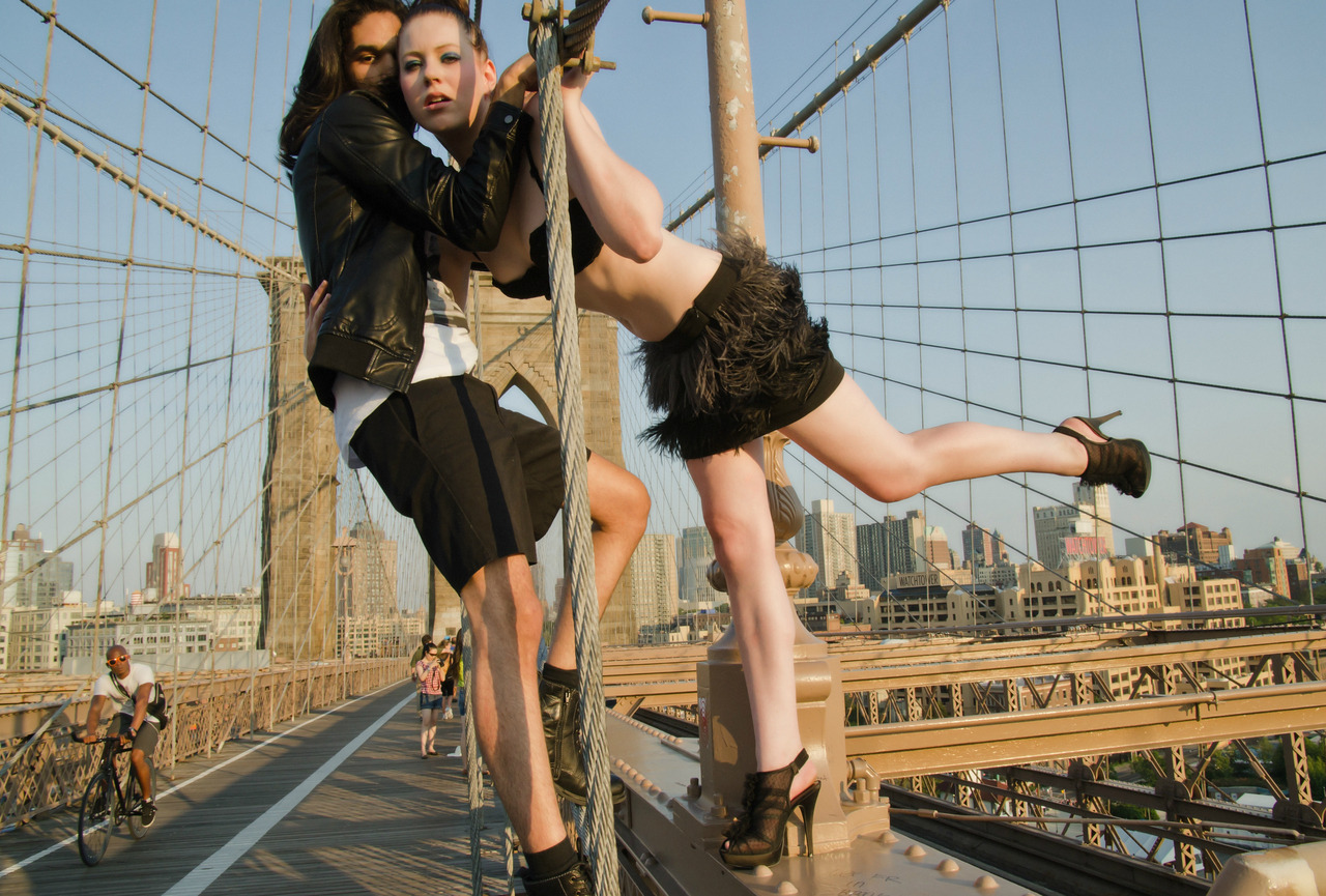 Brooklyn Bridge Love Story #1 - Pablo and Sannie in New York.