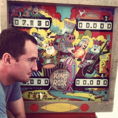 King Rock pinball at the Frostop. New Orleans. (Taken with Instagram)