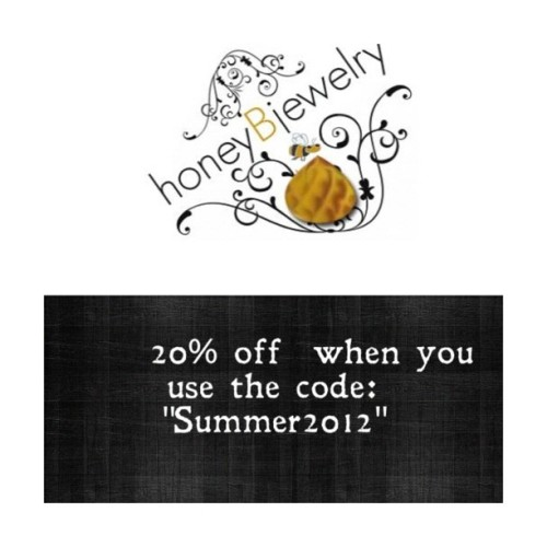"Sale!!! Save 20% when you the code ""summer2012"" #hbj #honeybjewelry #jewelry #earring #accessories #armcandy #necklace #bracelet #fashion #honey #handmade #shopping #jewelryswag #honey  #ooak #jewelryporn #jewelryaddict #jewelryjunkie  (Taken with Instagram)"