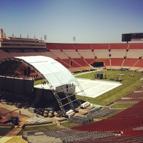 Guadalupe Celebration los angeles colliseum #usc #la  (Taken with Instagram)