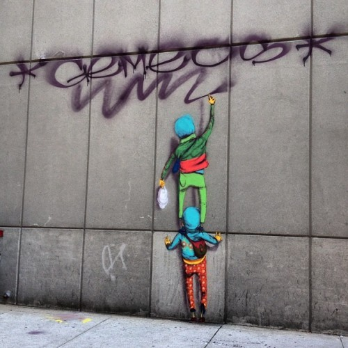 @osgemeos bombed it on the down low at another Boston spot… (Taken with Instagram at Revere Hotel)