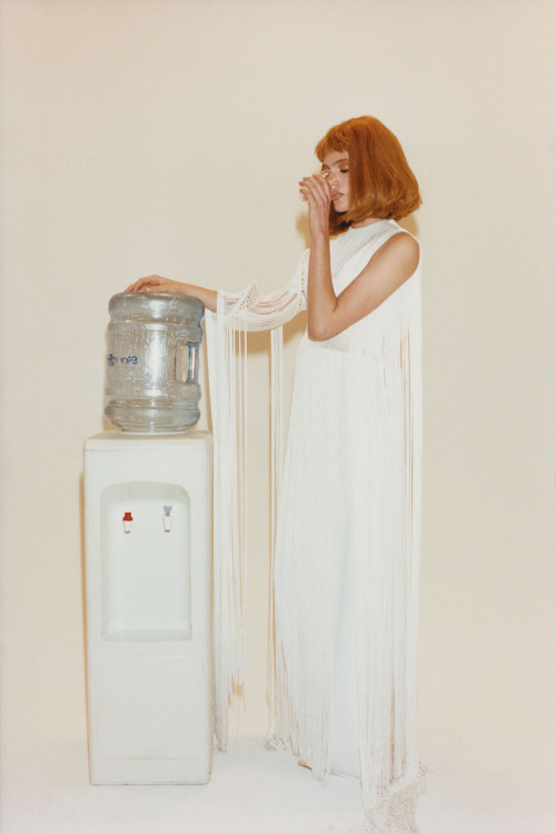 thedoppelganger:  Working GirlMagazine: Oyster #100Photographer: Tung WalshModel: Madison Hope Headrick