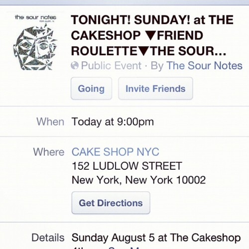I am playing tonight with @thesournotes  (Taken with Instagram)