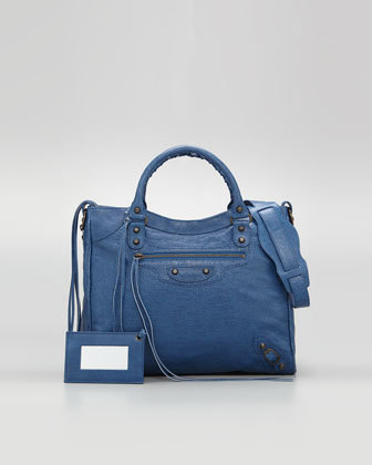 Bag of the Day - Belenciaga Velo bag in Blue Cobalt. $1545 at Barneys New York, Balenciaga and Neiman Marcus