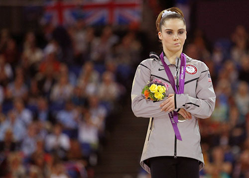 No tears for McKayla. theolympics:  Gymnast McKayla Maroney had to settle for silver after falling on her second vault in the individual event final.