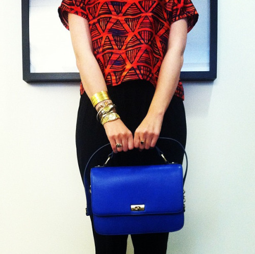 teenvogue:  Mixing and matching bold hues  (via imgTumble)